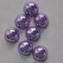 Полубусина (жемчуг половинка) 8 мм перламутровая, 20 шт./уп. Фиолетовая с радужным переливом