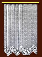 """Жаккардовый тюль """"Розанна"""" (белый), высота 190 см"""