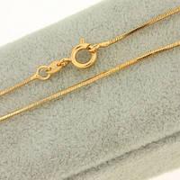 Цепочка с золотым покрытием тонкое плетение Снейк 45 см