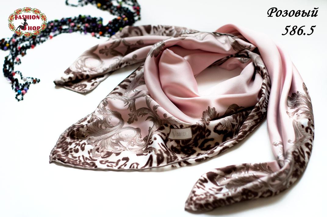 Платок розовый атлас-масло Айла