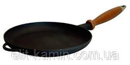 Сковорода-блинница с деревянной ручкой (d=200 мм, h=20 мм)