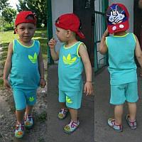 Детский стильный костюмчик для мальчика: майка, шорты ( 4 цвета)