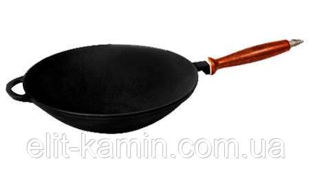 Сковорода WOK с деревянной ручкой (d=260 мм, h=80 мм)