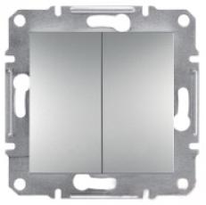 Schneider Asfora Plus Механизм переключателя 2-клавишный проходной алюминий