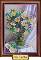 Схема для вышивки бисером «Букет ромашек в вазе»