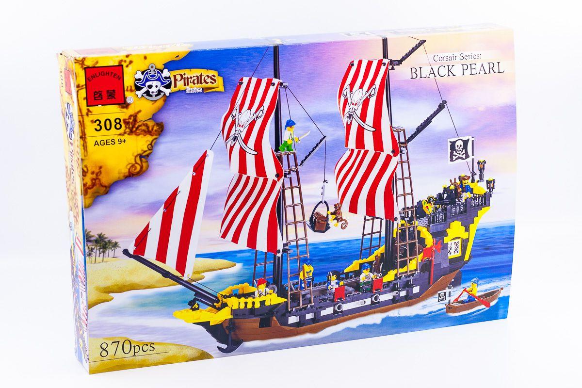 Конструктор пиратский корабль Brik 308 870 деталей