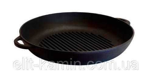 Чугунная сковорода гриль 260х40