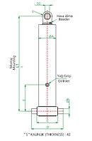 Гидроцилиндр 3-х штоковый (длина 1 штока 1342 мм)тип С