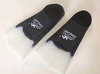 Ласты для плавания в бассейне короткие, чёрные Р. 36-38. Силикон