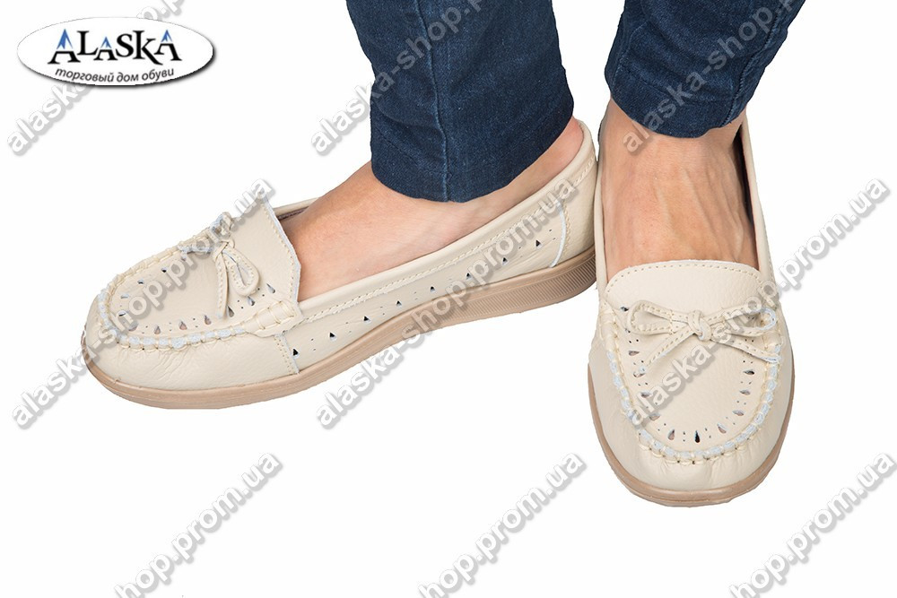Женские туфли кремовые (Код: 2-5В)