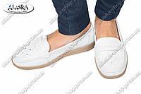 Женские туфли белые (Код: 2-6В)