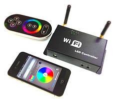 RGB контроллер Wi-Fi 5-24В, 3х4А радіо з сенсорним пультом для світлодіодної стрічки