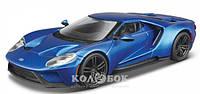 Автомодель Bburago FORD GT (голубой металлик, серебристый металлик, 1:32)