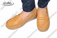 Женские туфли коричневые (Код: 2-6В)