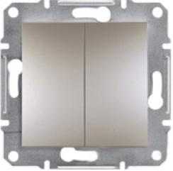 Schneider Asfora Plus Механизм переключателя 2-клавишный проходной бронза