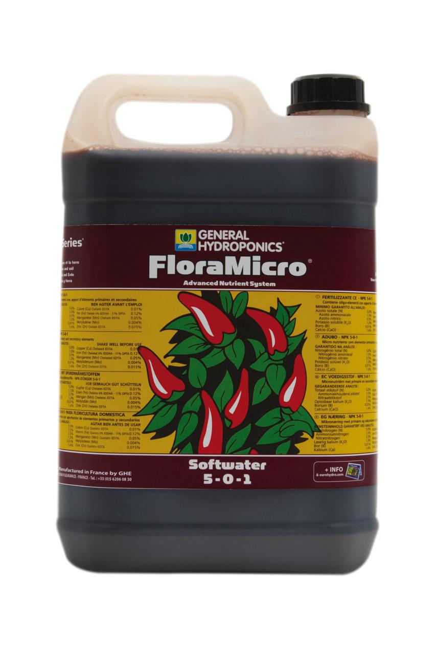 GHE FloraMicro SW 5L. Оригинал. Минеральное удобрение для гидропоники. Франция