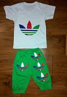 Детский стильный идеальный для лета костюм : футболка, штаны   104-110
