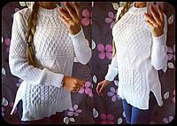 Женский стильный вязанный свитер-туника (4 цвета)