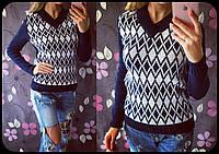 Женский стильный теплый вязанный свитер (5 цвета)