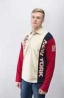 Распродажа мужских трикотажных футболок поло с длинными рукавами.