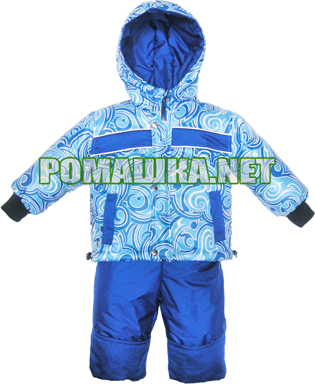 Детский весенний осенний комбинезон р. 86 для мальчика куртка и полукомбинезон на флисе 3010 Голубой - Детский интернет-магазин «Ромашка» в Киеве