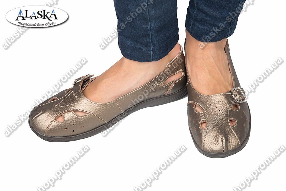 Женские туфли бронзовые (Код: 2-9А)