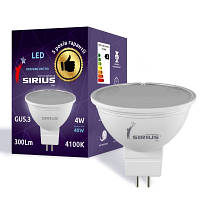 LED лампа Siriusstar MR16 5W GU5.3 4000K (1-LS-3506) 400Lm