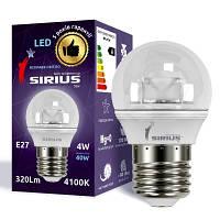 LED лампа Siriusstar G45 шар 4W E27 4100K (1-LS-3406) 320Lm