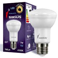 LED лампа Siriusstar R63 спот 7W E27 4000K (1-LS-3802) 640Lm
