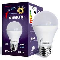LED лампа Siriusstar А60 классика 12W E27 4100K (1-LS-2104) 1050Lm