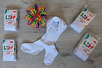 Детские белые колготки для девочки и мальчика бамбук тм Ласточка р.92-164