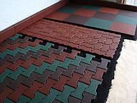 Тротуарна плитка з гумової крихти