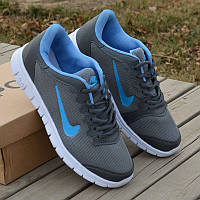 Кроссовки Nike Free Run dark gray blue 39//41
