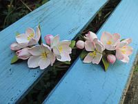 "Заколки ""Яблоневый цвет"", фото 1"