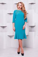 Женственное платье Анюта р. 52-58 мята