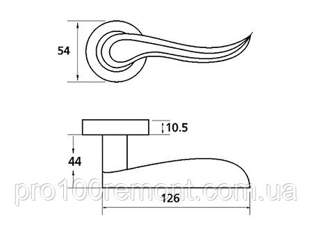 Ручка дверная на розетке МВМ FLY Z-1295, фото 2