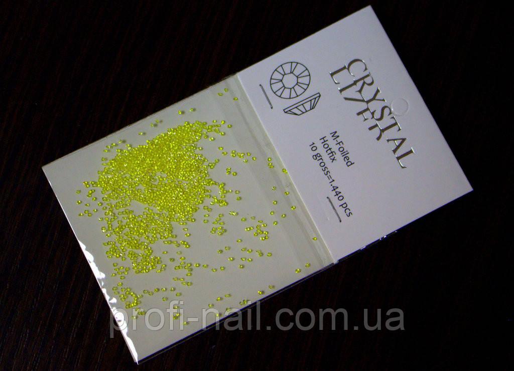 Хрустальная крошка, кристалл пикси, Crystal Pixie,  Yellow, 200 шт.
