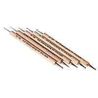 Дотс в наборе деревянная ручка, упаковка 5 шт
