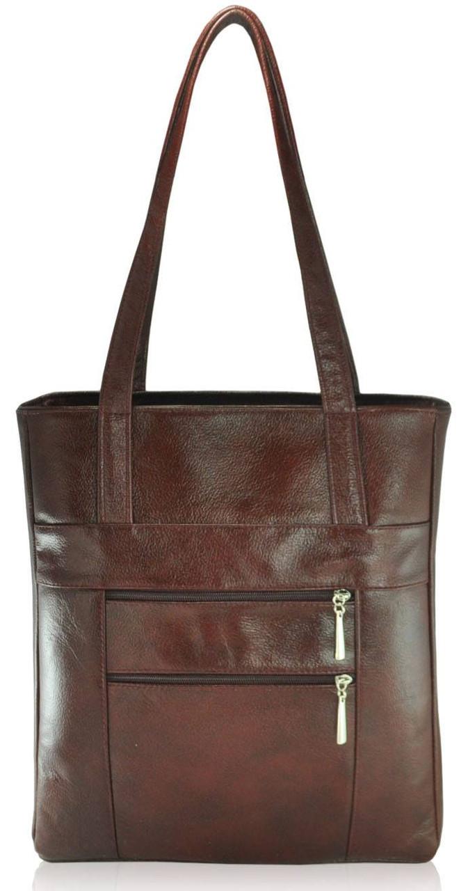 Кожаная женская сумка Merkel коричневая