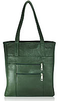 Кожаная женская сумка Merkel зеленая
