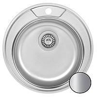 Кухонная  мойка круглая нержавейка 49 см Galati Sorin Satin 7127