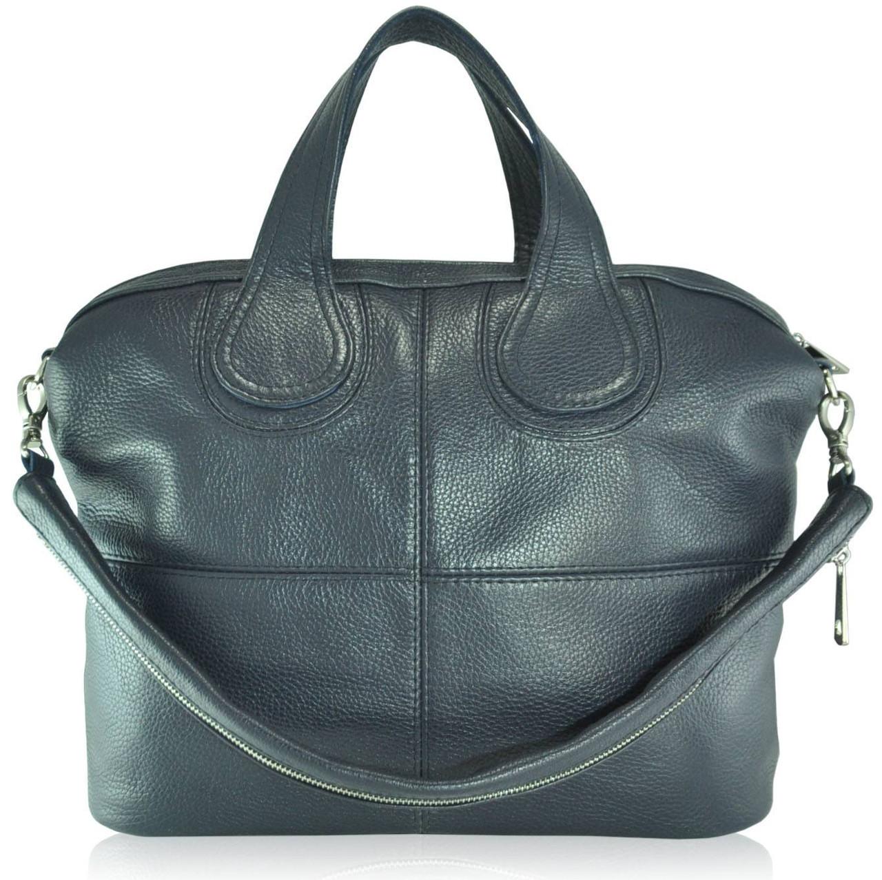 0cc7dafa58de Кожаная женская сумка Nightinghale темно-синяя - Интернет магазин