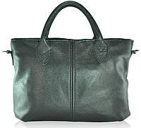 Кожаная женская сумка Валенсия черная