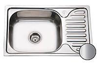 Кухонная стальная мойка (66*42*18 см) Galati Mirela Satin 7135