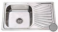 Кухонная стальная мойка (78*48*18 см) Galati Constanta  Textură 7139