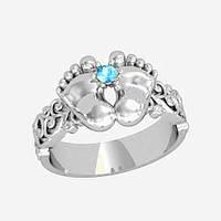Кольцо серебряное Ножки Младенца КЕ-1297