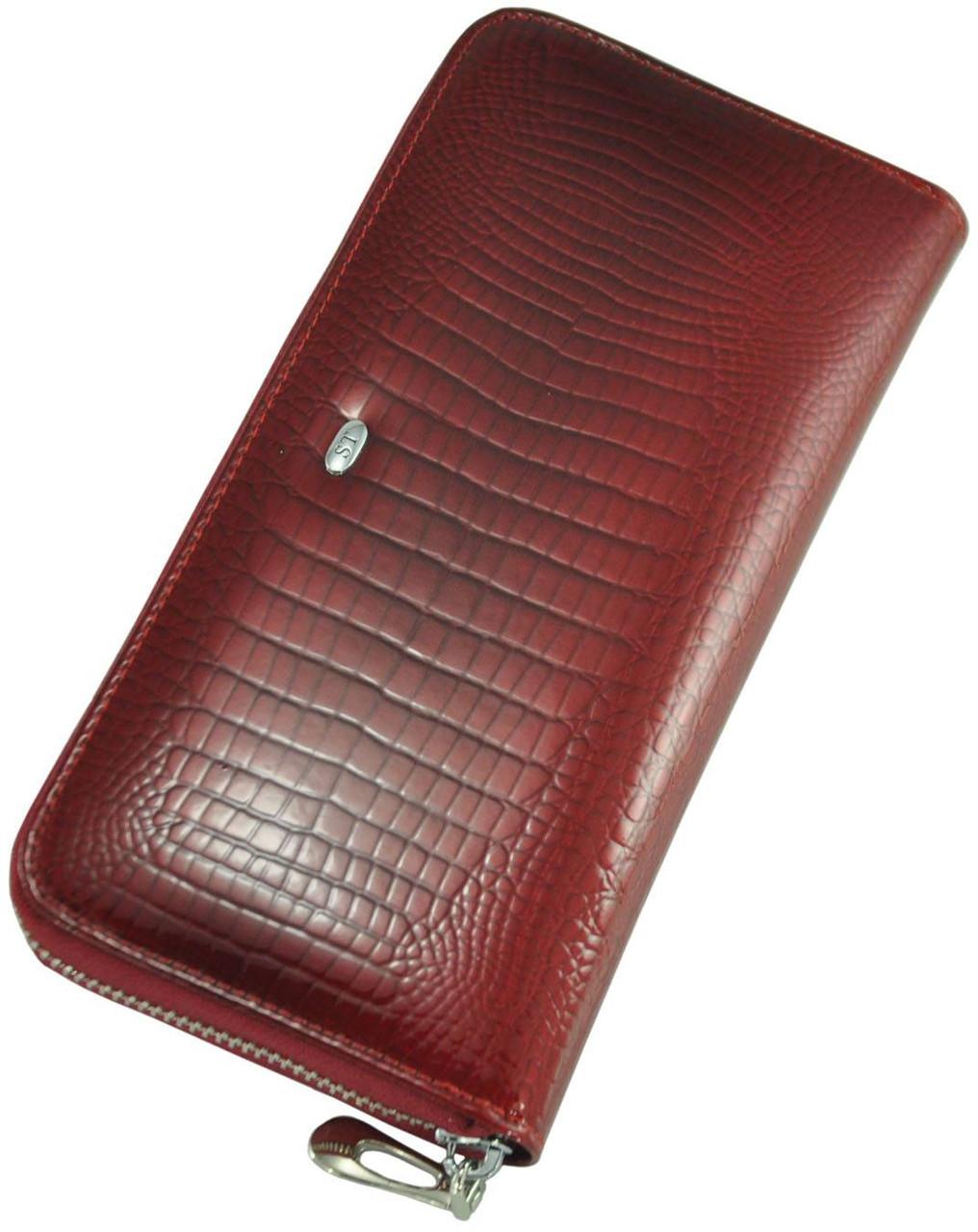 Кожаный женский кошелек AE201 Red