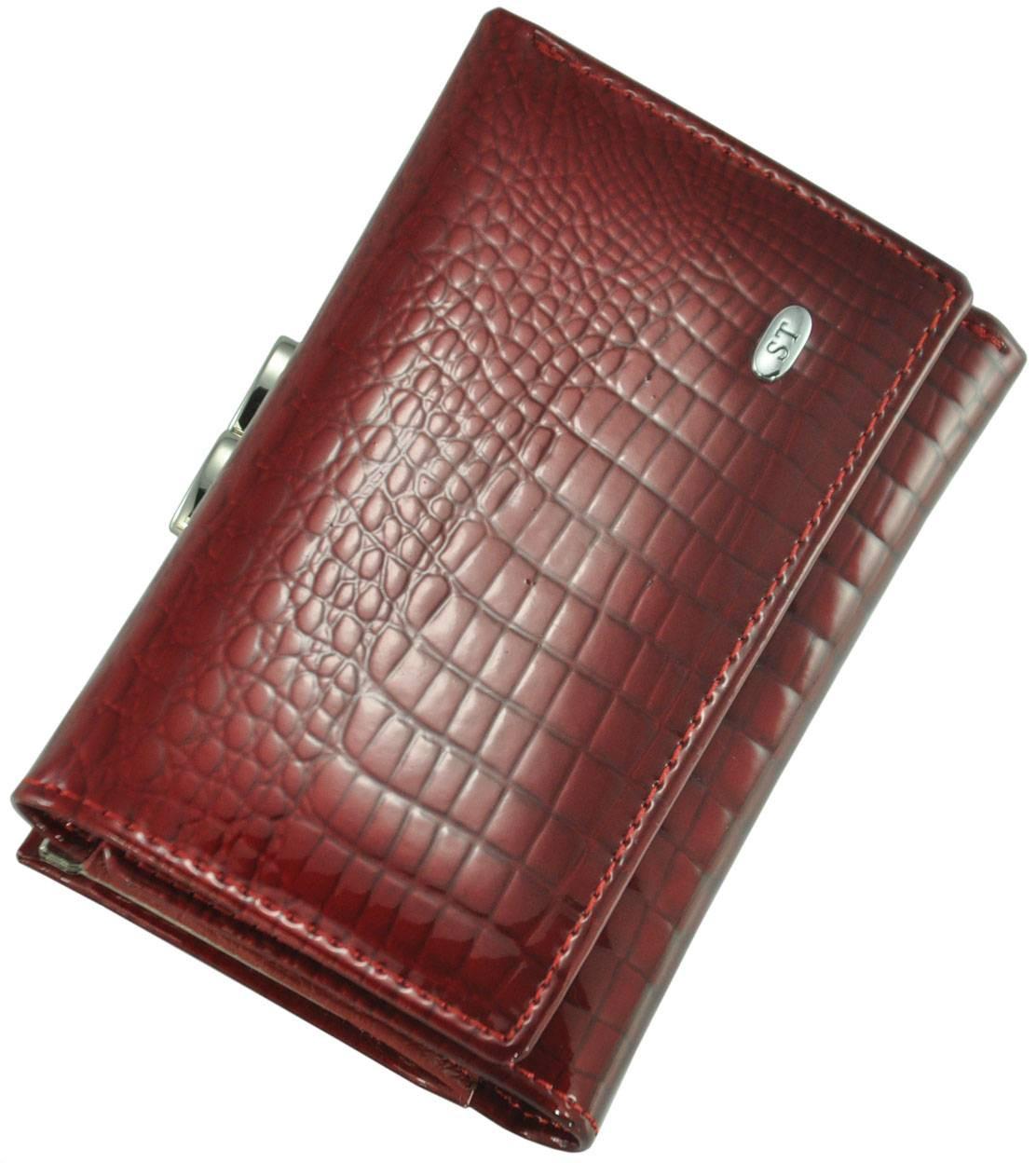 Шкіряний жіночий гаманець AE617 Red