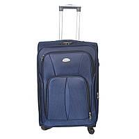 Дорожний чемодан большого размера на колесах Sanjerly - синий