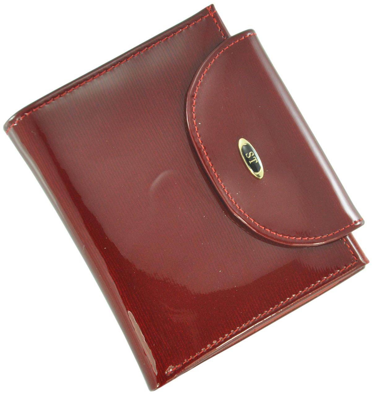 Кожаный женский кошелек BC410 Red